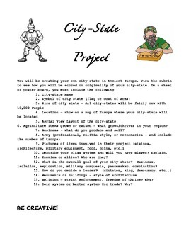 Create Your Own Ancient City-State Project