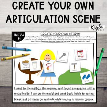 Create Your Own: Articulation Picture Scene! (No Prep)