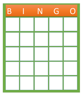 Create Your Own BINGO GAME with students