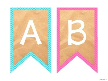 Create Your Own Banner - Chevron Alphabet Bunting