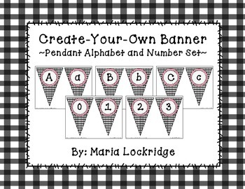 Create Your Own Banner: Pendant Alphabet and Number Set (P