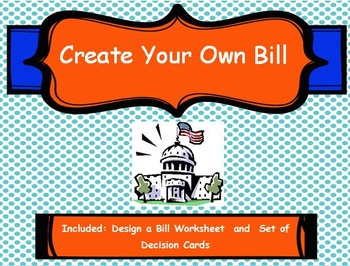 create your own bill by the small town teacher tpt