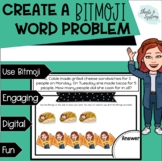 Create Your Own Bitmoji Word Problem {Distance Learning &