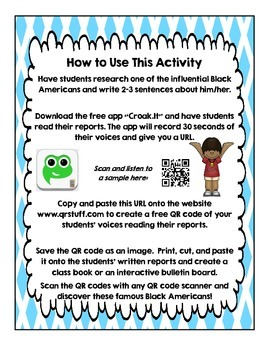 Create Your Own Black History QR Code Book