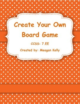 Create Your Own Board Game - Equations Activity/Project