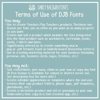 Create Your Own Bundle - 10 Fonts - Commecial Use - DJB Fonts