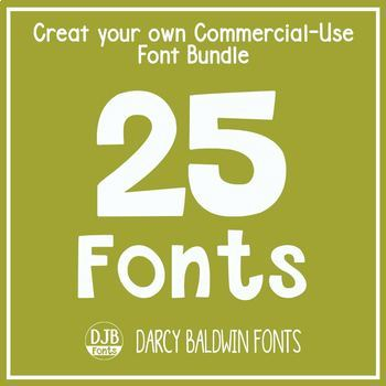 Create Your Own Bundle - 25 Fonts - Commecial Use - DJB Fonts