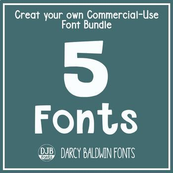 Create Your Own Bundle - 5 Fonts - Commecial Use - DJB Fonts