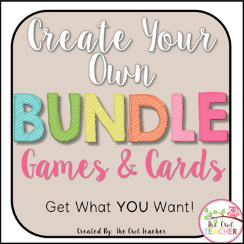 Create Your Own Bundle - Games and Cards Version
