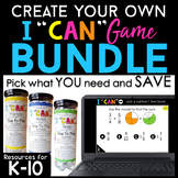 Create Your Own Bundle | I CAN Games for Math & Grammar |