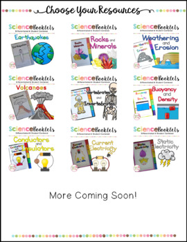 Create Your Own Bundle - Science Booklets Version