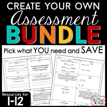 Create Your Own Bundle for 1-12 | Spiral Assessments | You PICK, You SAVE!