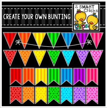 Create Your Own Bunting Bundle (For Use On Black Or Dark Backgrounds)