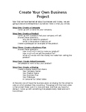 Create Your Own Business Project