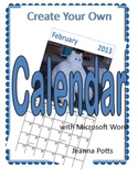 Create Your Own Calendar with Microsoft Word