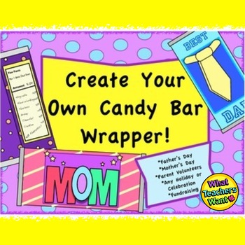 Create Your Own Candy Bar Wrappers Great Gift For ANY Holiday