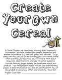 Create Your Own Cereal - Producers and Consumers