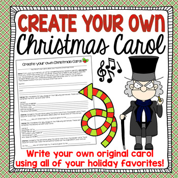 Christmas Carol Writing Activity
