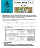 Create Your Own City! Practice with Latitude and Longitude + Cardinal Directions