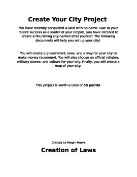 Create Your Own City Project by Mooreteaching | Teachers Pay Teachers
