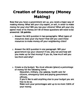 Create Your Own City Project