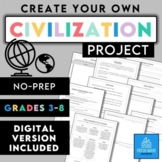 Create-Your-Own Civilization Project! - NO PREP!
