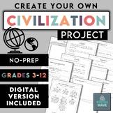 Create-Your-Own Civilization Project - NO PREP - Distance