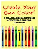Create Your Own Color- Vocabulary Activity That Incorporat