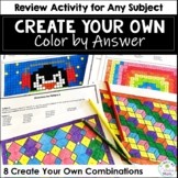 Make Your Own Color by Answer (#2) - For Any Subject