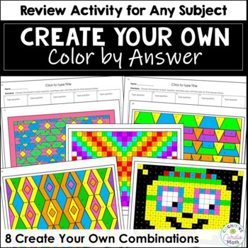 Make Your Own Color by Answer Activity - For Any Subject