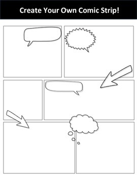 Create Your Own Comic Strip! Fun Activity for Storyboarding or Creative Task!
