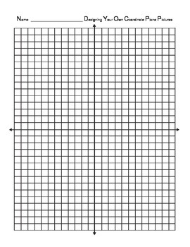Create Your Own Coordinate Plane Project (Using Ordered Pairs)