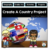 Create A Country to Review Geography & Map Skills - End of Year Activities