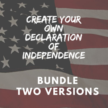 Create Your Own Declaration of Independence Bundle