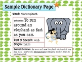 Create Your Own Dictionary: Using Latin Roots and Word Origins to Build Words