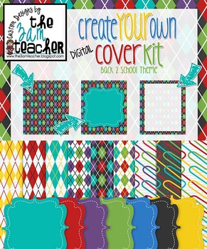 Create Your Own Digital Cover Kit (Digital frames, borders, papers, clip art)
