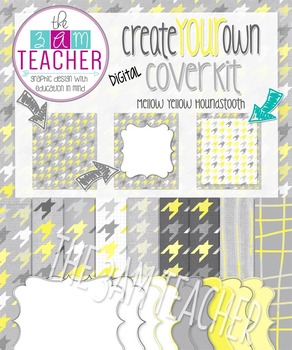 Create Your Own Digital Cover Kit: Mellow Yellow Digital Papers & Frames
