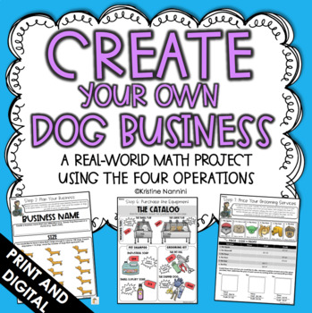 Create Your Own Dog Business - Math Project