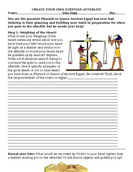 Create Your Own Egyptian Afterlife