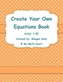 Create Your Own Equations Book Project
