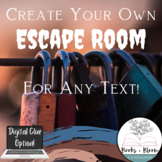 Escape Room Template For Any Text! Engaging Comprehension/Review Activity