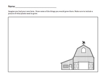 Create Your Own Farm Worksheet