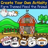 Editable Create Your Own Feed the Animal: Farm Theme