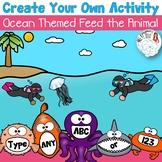 Editable Create Your Own Feed the Animal: Ocean Theme