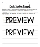 Create Your Own Flashback *Printable AND Digital Online* G