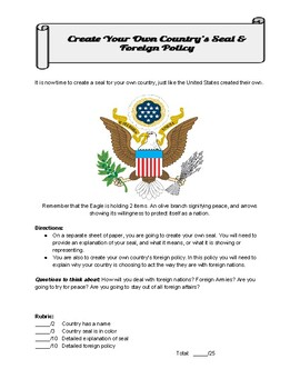 Create Your Own Foreign Policy & Country Seal