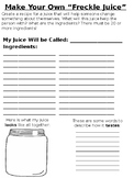 Create Your Own Freckle Juice