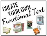 Create Your Own Functional Text Activity