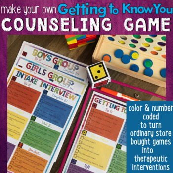 GETTING TO KNOW YOU Counseling Game: Initial Intake, Rapport, Small Groups