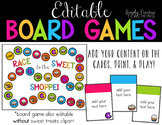 Create Your Own Game Board *Editable Sweet Themed*